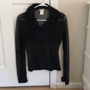 Sheer black Sharagano blouse